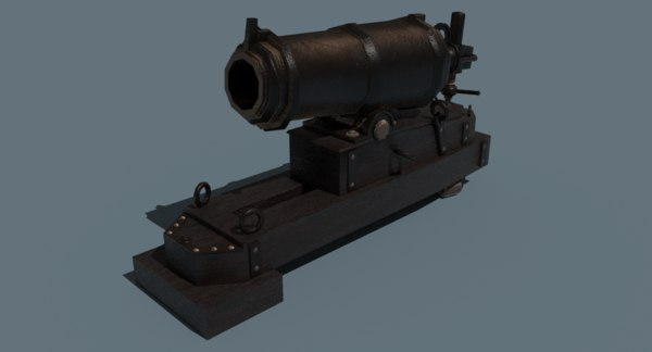 3D carronade cannon