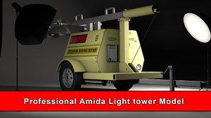 amida light tower generator 3D