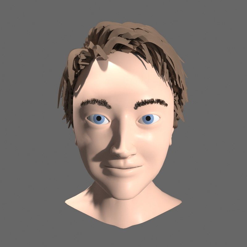 3D rigged head