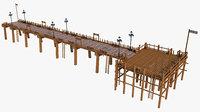 wood dock 3D model