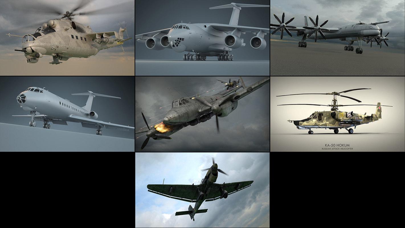 3D aircraft pack model