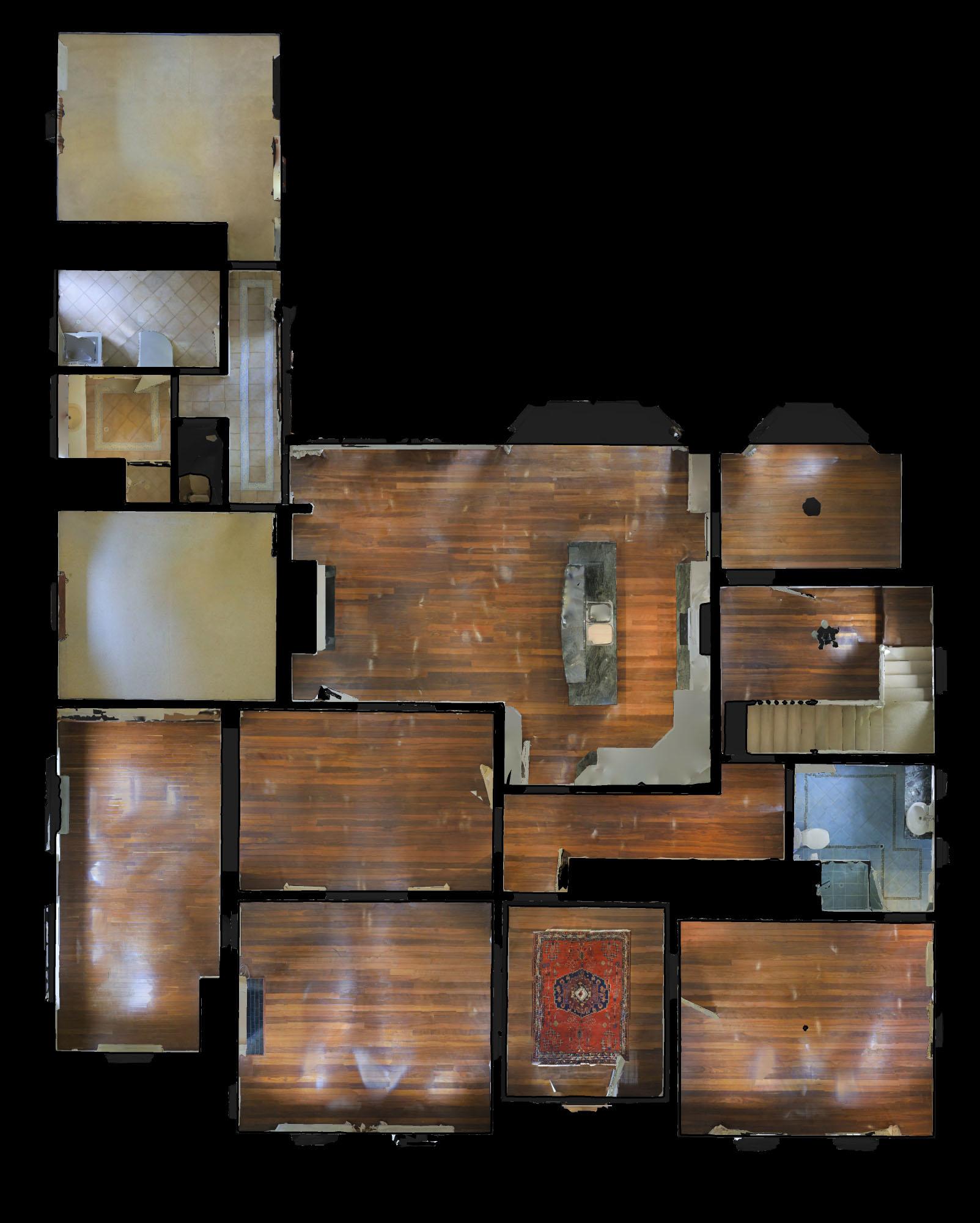 Intérieur de maison hantée