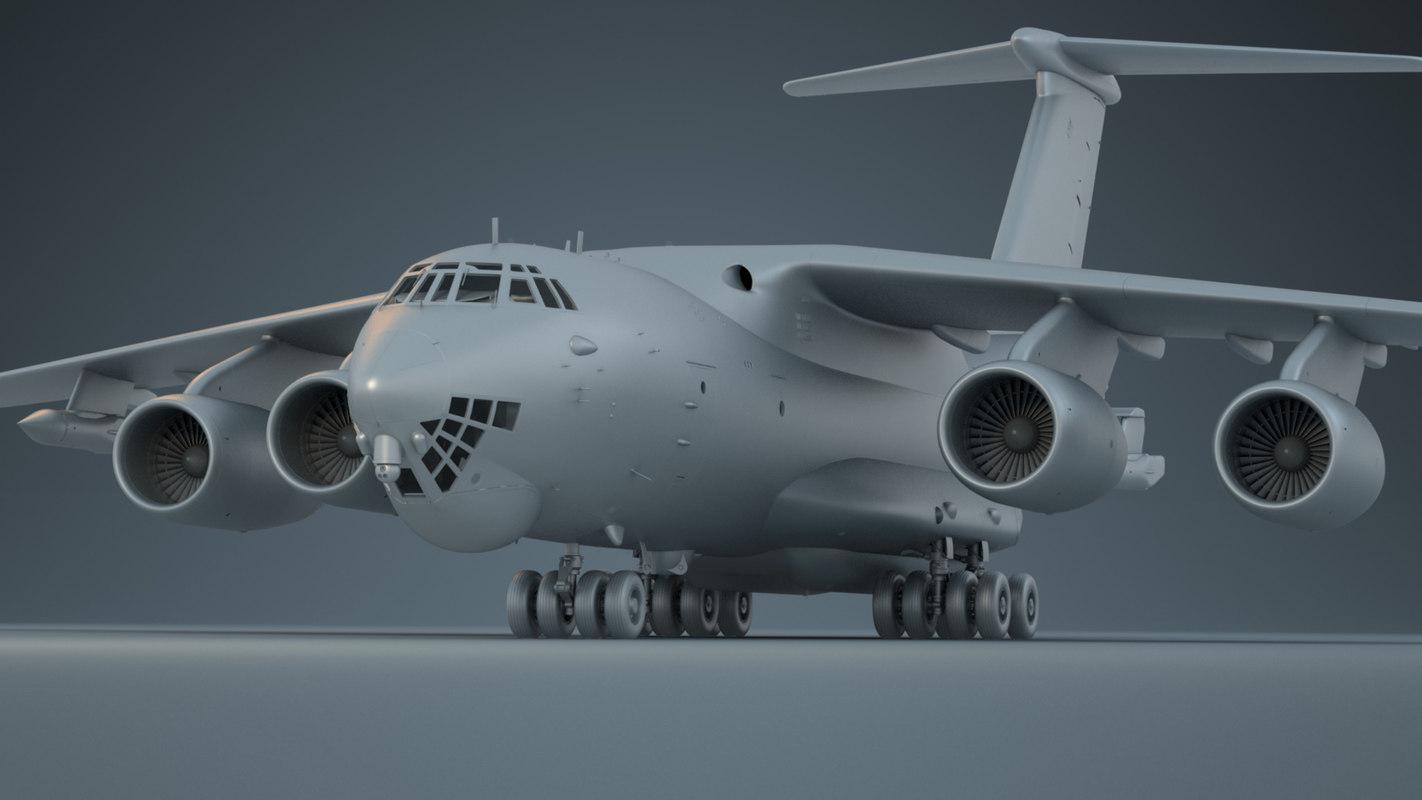 3D model il-76md-90a il-78m-90a aircraft