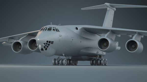 3D model il-76md-90a il-78m-90a aircraft