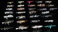 sci fi assault guns 3D