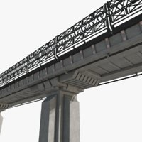 sci fi bridge architectural 3D model