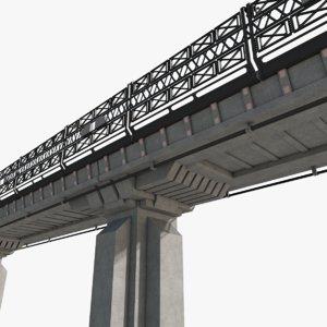 sci fi bridge architectural 3D model