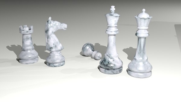 chess set pawn bishop 3D model
