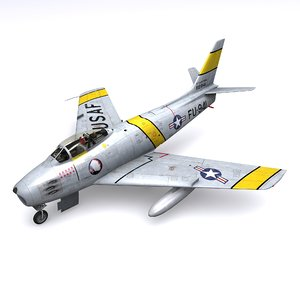 3D american sabre col johnson model