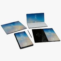 Samsung Note S Smartphone-Tablet-Laptop Foldable 3d Concept