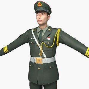 army honor guard dresses 3D model
