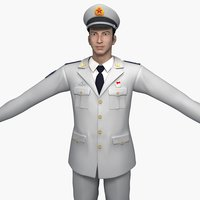 china navy soldiers spring 3D
