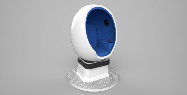 3D egg 9d vr model