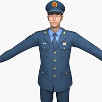china air force soldiers 3D model