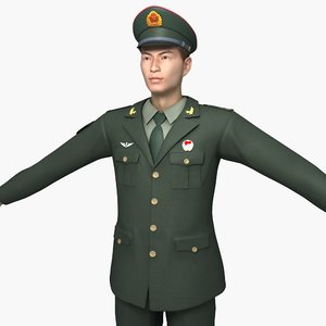 china army soldiers spring 3D