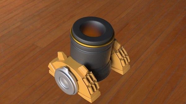 mortar clash clans 3D model