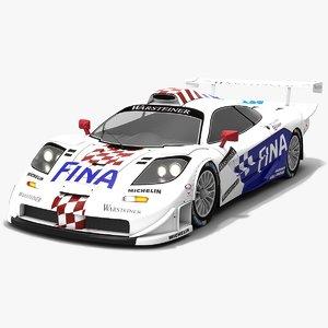 3D mclaren f1 gtr race car
