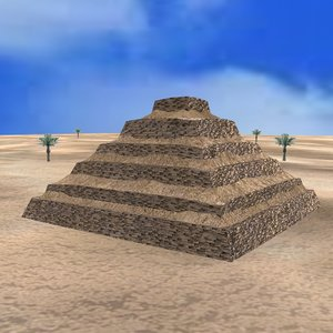 egyptian step pyramid 3D model