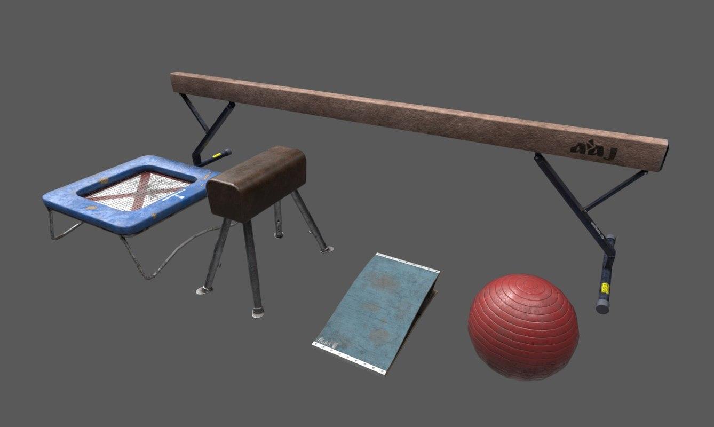 3D gym asset pack yoga
