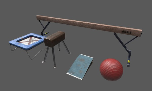 3D gym asset pack yoga
