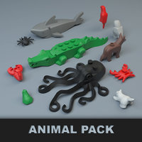 lego animal pack 3D model