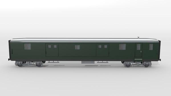 old swiss baggage car 3D model