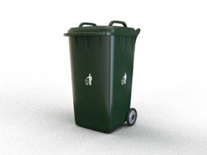 3D trash bin industrial