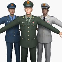 The colletion of China Soldiers' Spring and Autumn Clothes