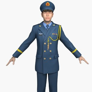 china air force officers 3D model