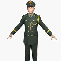 china army officers spring 3D model