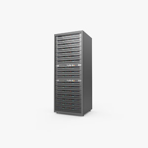 server rack data center 3D model