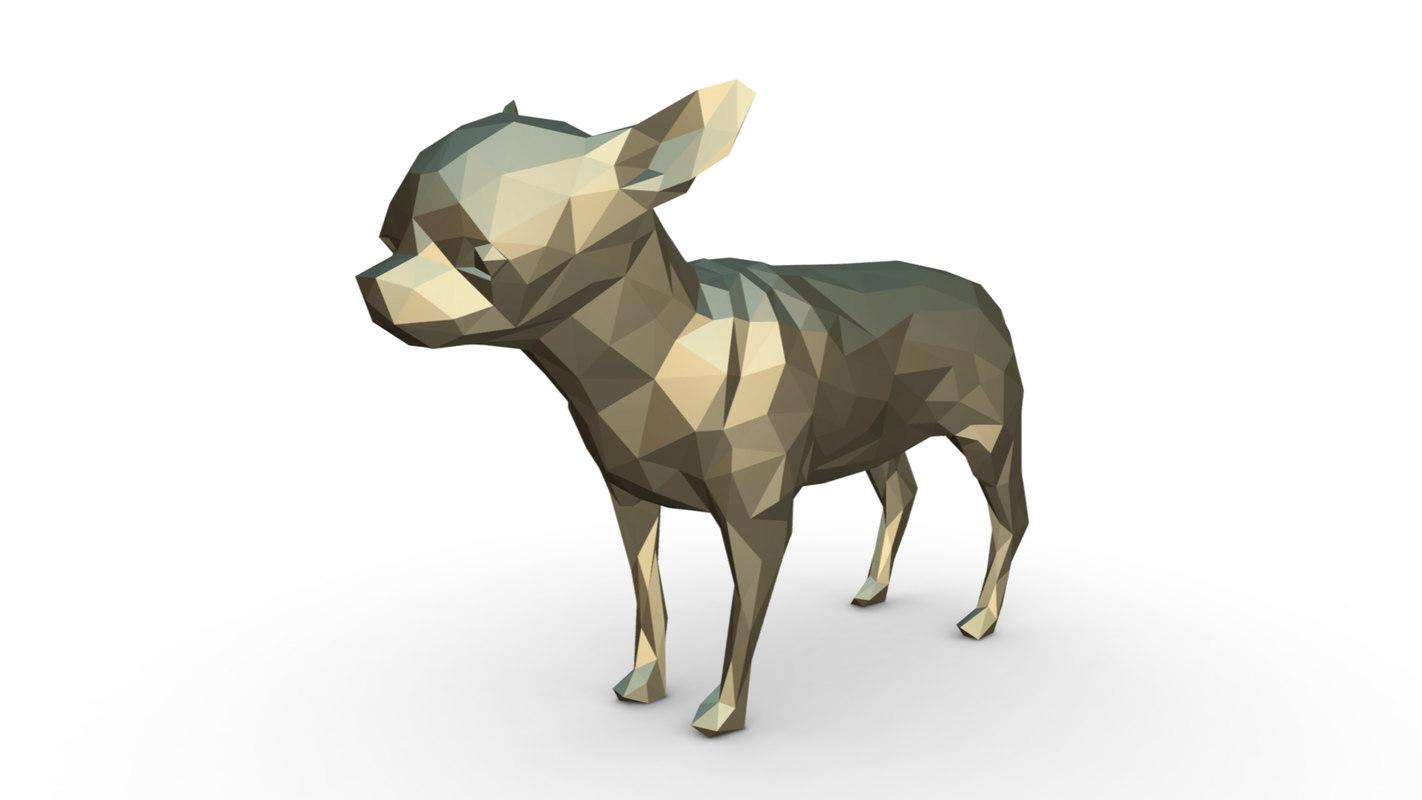 printed chihuahua figure 2 3D