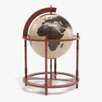 3D antique globe model