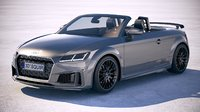 3D audi tts roadster model