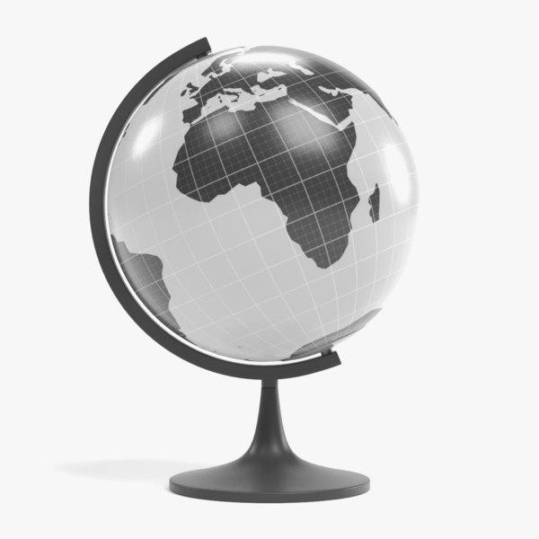 3D globe pbr model
