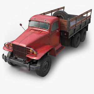 3D diamond t truck chassis model