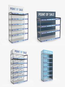 display rack 4 1 3D model