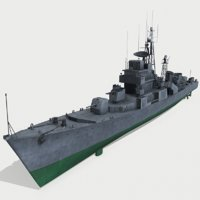 3D model north najin-class frigates