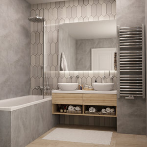 bath bathroom 3D