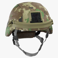 advanced combat helmet worn 3D model