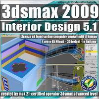 005.1 3ds max 2009 Interior Design v.5.1 Italiano cd front