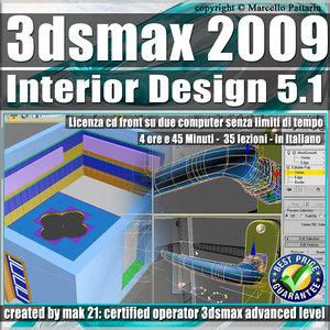 005.1 3ds max 2009 Interior Design v.5.1 Italiano cd front
