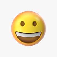 3D emoji 1 grinning face