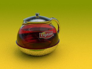 tea glass teapot 3D model