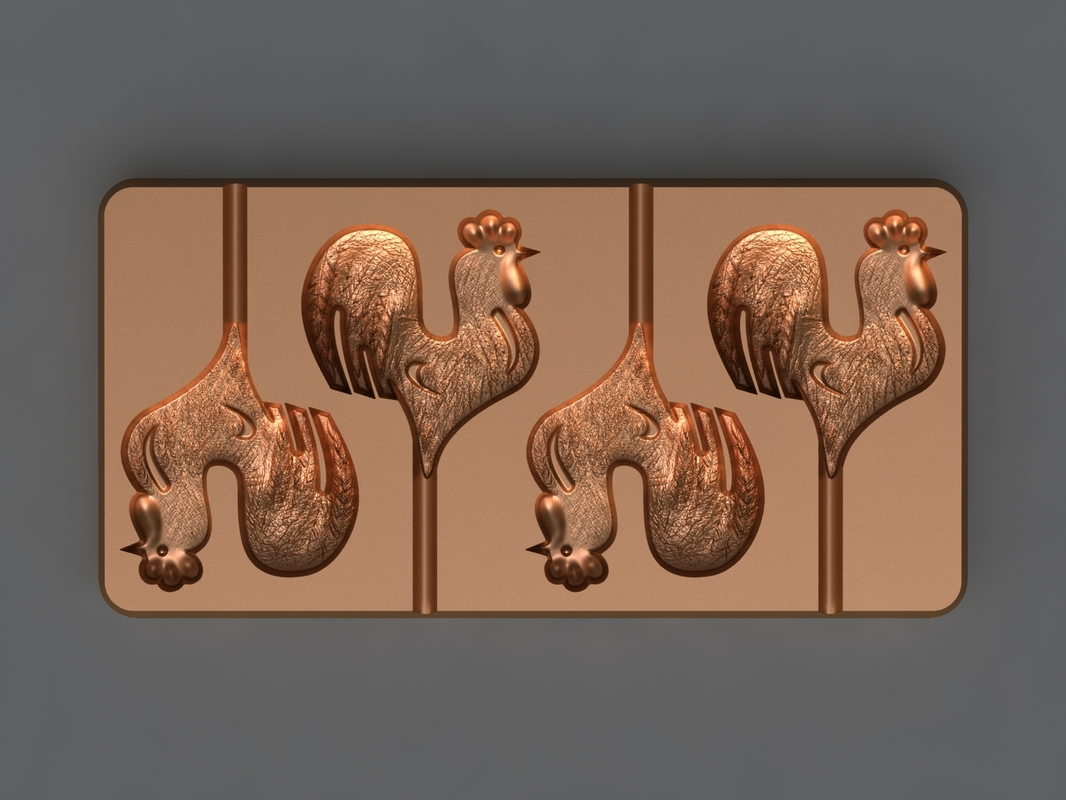 3D rooster mold hand