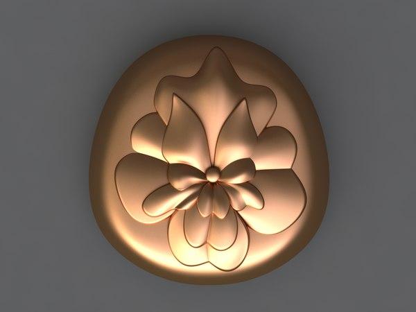 3D flower mold hand model