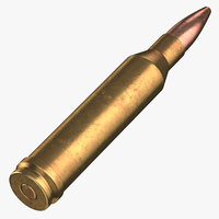3D bullet 300 winchester laying