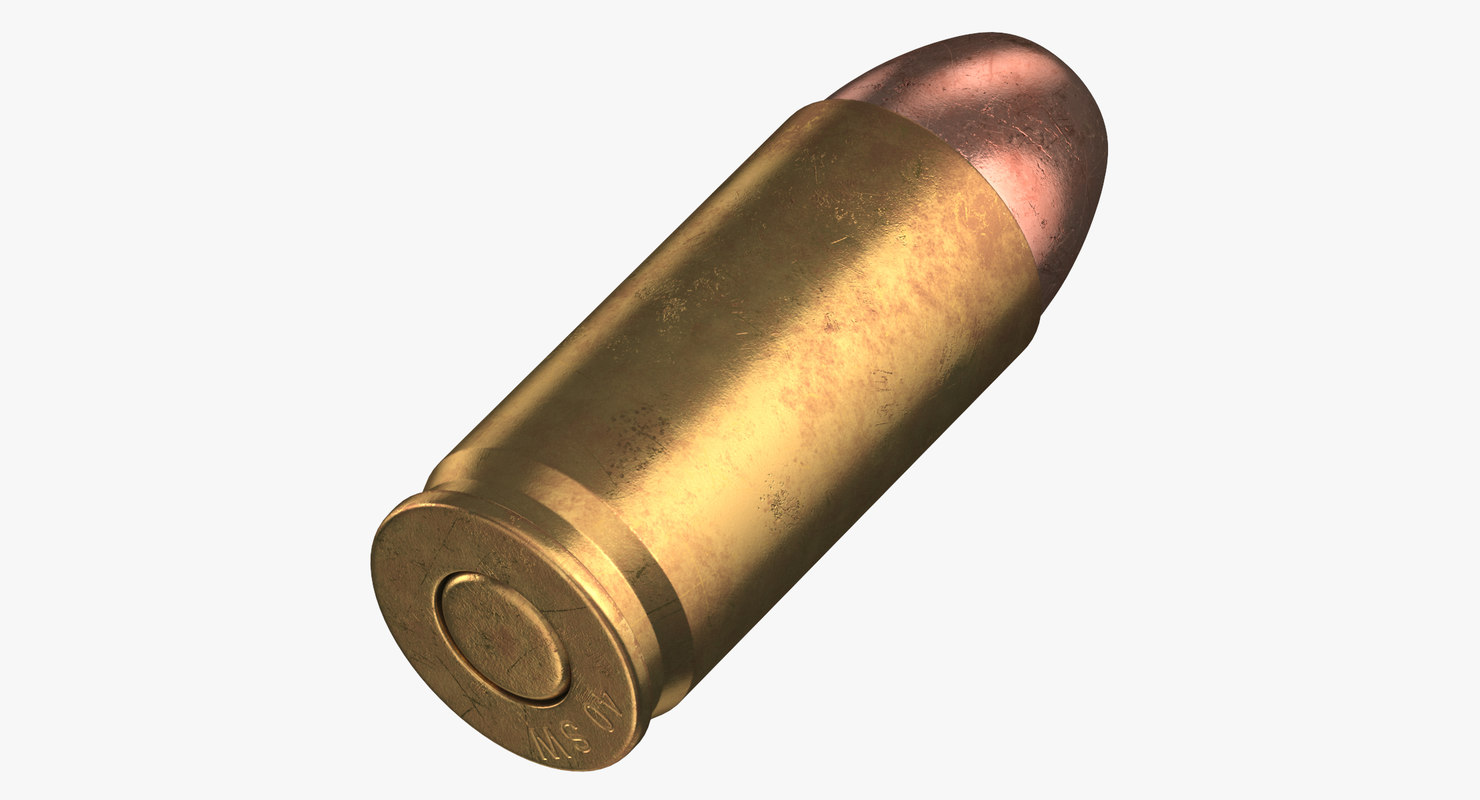 bullet 40 sw laying 3D model