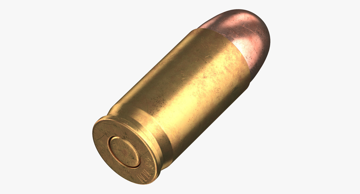3D bullet 45 mm laying