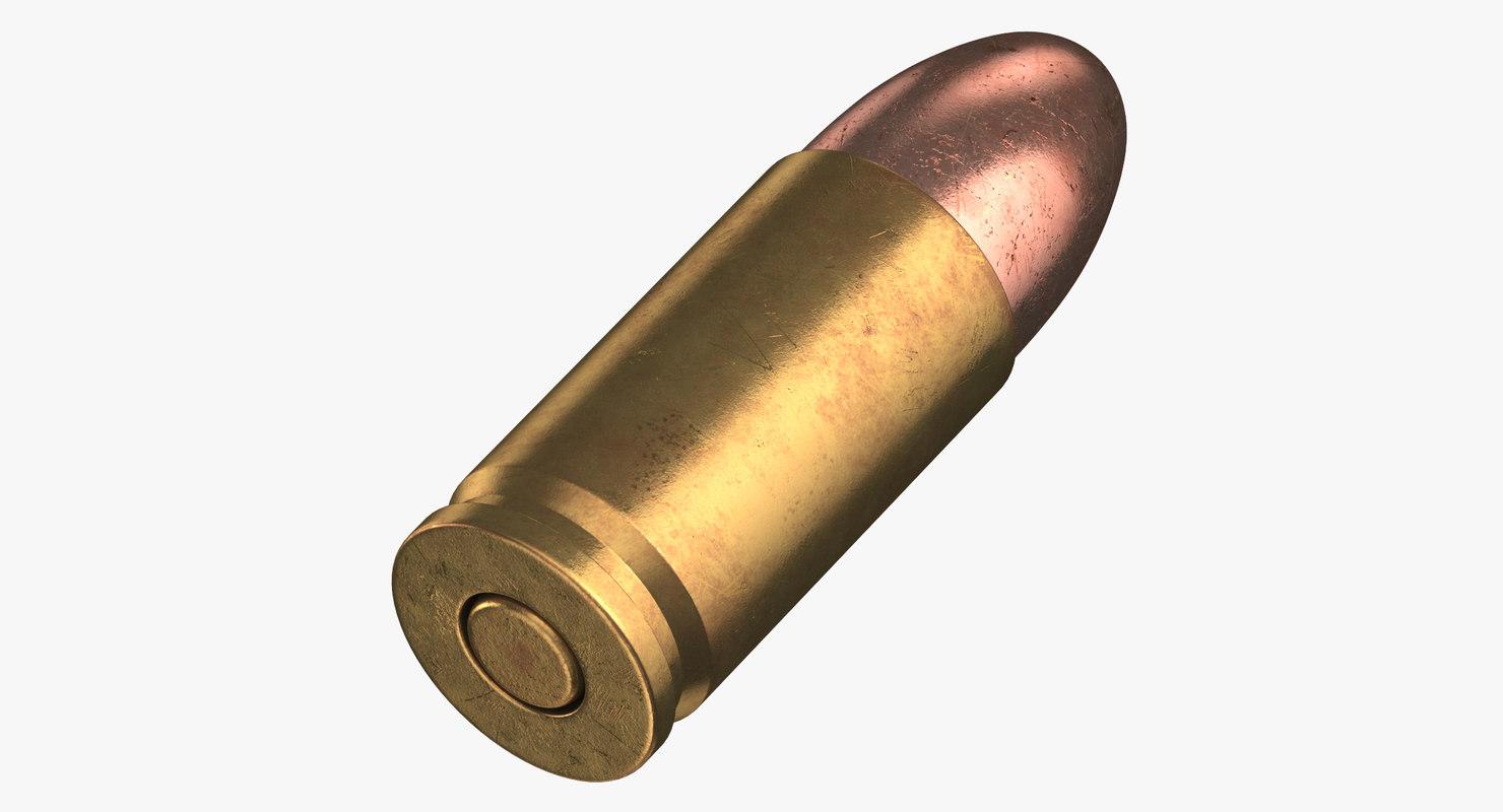 3D bullet 9 19 luger